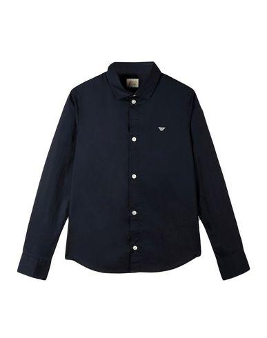 ARMANI JUNIOR - Solid color shirt