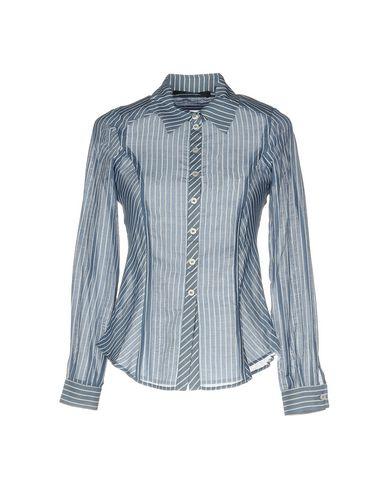 fc20cabdc Blue Les Copains Striped Shirt - Women Blue Les Copains Striped ...