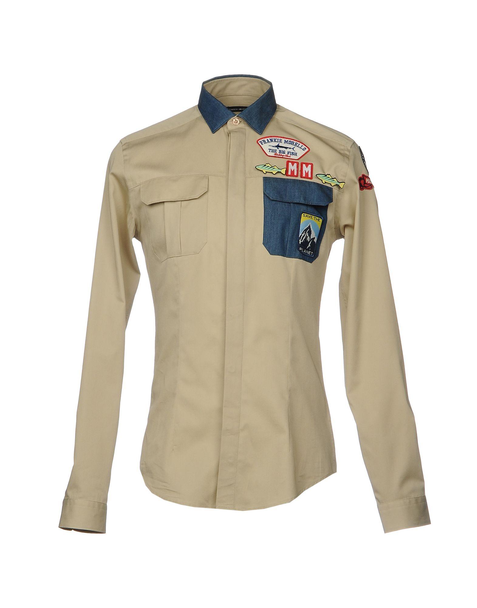 Camicia Tinta Unita Frankie Morello Uomo - Acquista online su