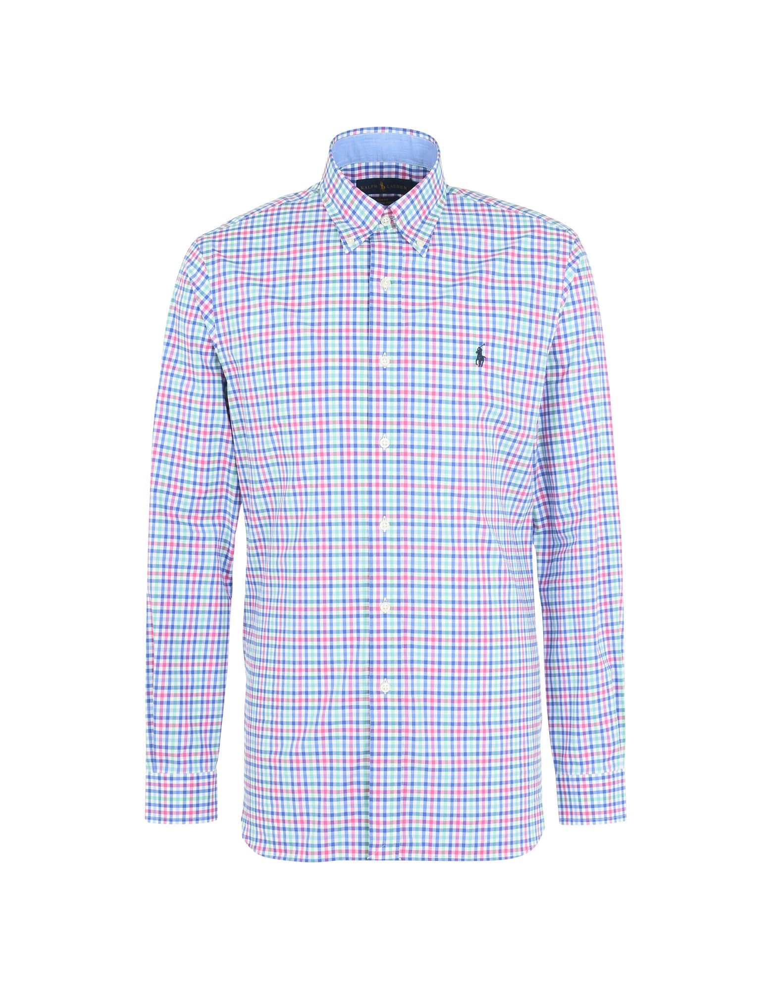 Camicia A Quadri Polo Ralph Lauren Slim Fit Poplin Shirt - Uomo - Acquista online su