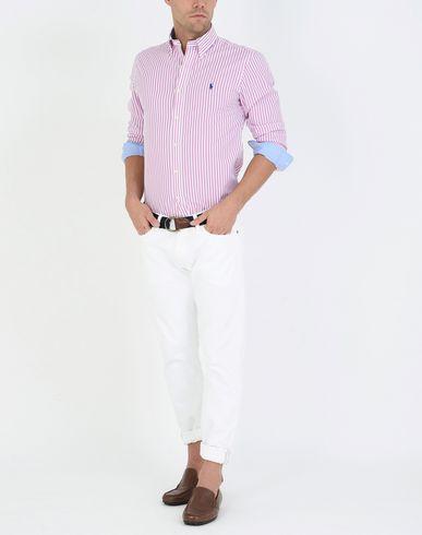 Billig Verkauf Fabrikverkauf RALPH LAUREN Slim Fit Poplin Shirt Gestreiftes Hemd Verkauf Bestseller 7PtMc4a