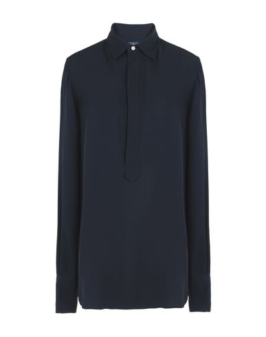 Blouse Polo Ralph Lauren Silk Georgette Shirt - Femme - Blouses Polo ... 9d0a35ca187