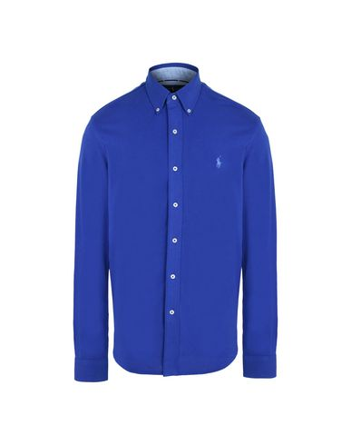 775981f195a4e0 Ralph Lauren Custom Fit Knitted Shirt - Einfarbiges Hemd Herren ...