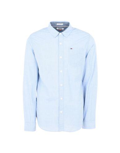 TOMMY JEANS TJM BASIC SOLID SHIRT L/S 38 Camisa lisa