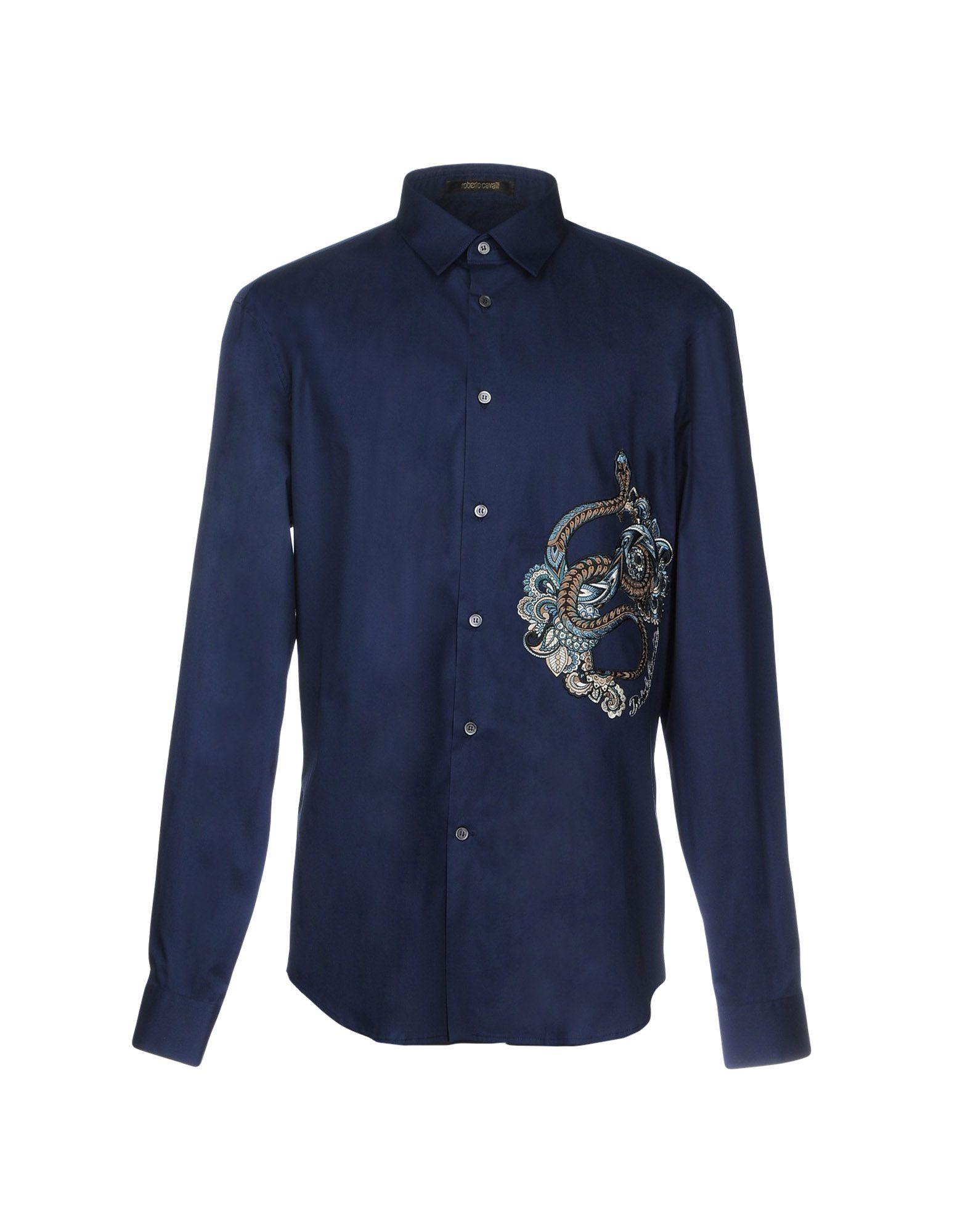 Camicia Tinta Unita Roberto Cavalli Uomo - Acquista online su