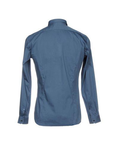 Billige Finish GABARDINE Einfarbiges Hemd Freies Verschiffen Mode-Stil Offizielle Online KszZXUn