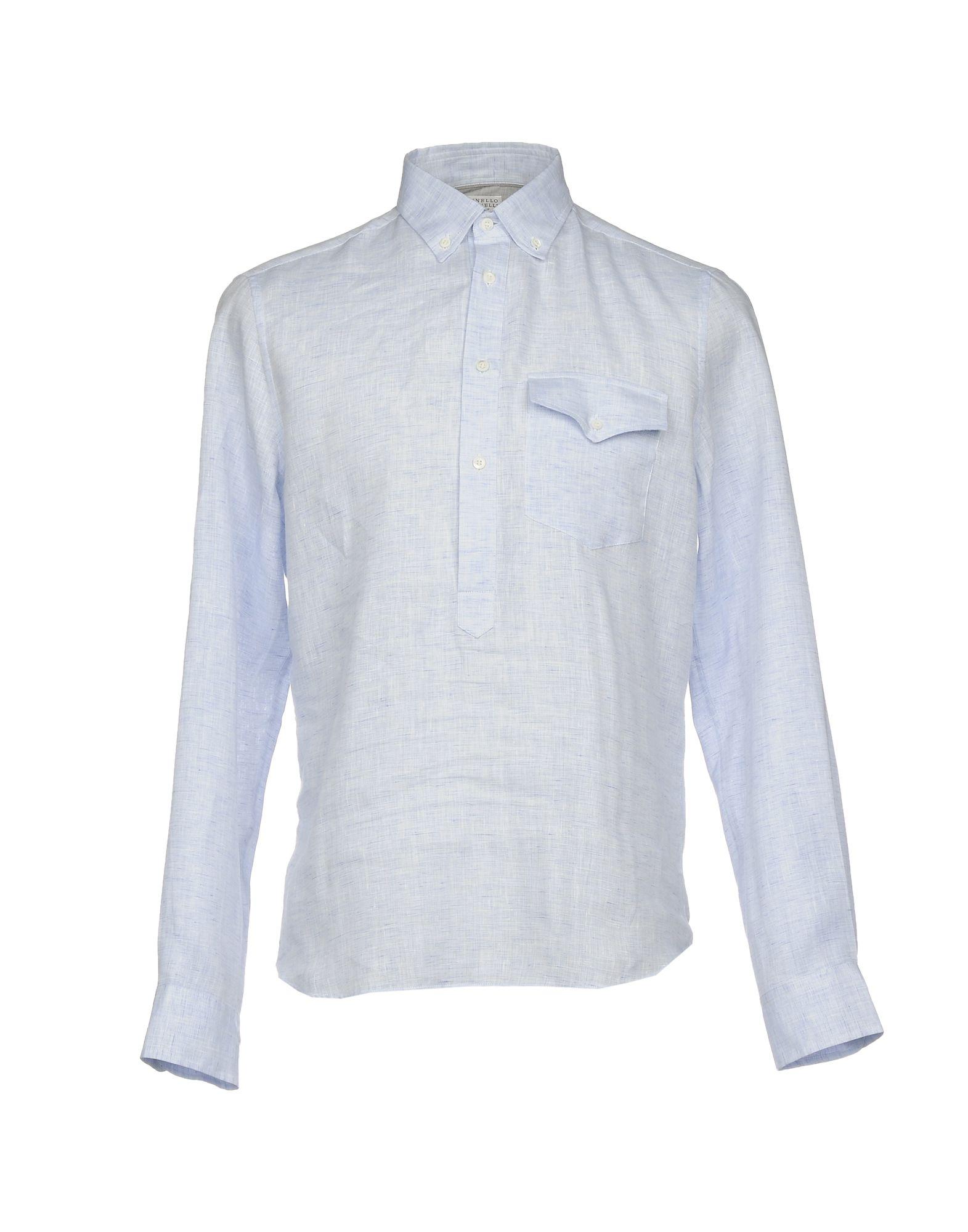 Camicia In Lino Brunello Cucinelli Uomo - Acquista online su