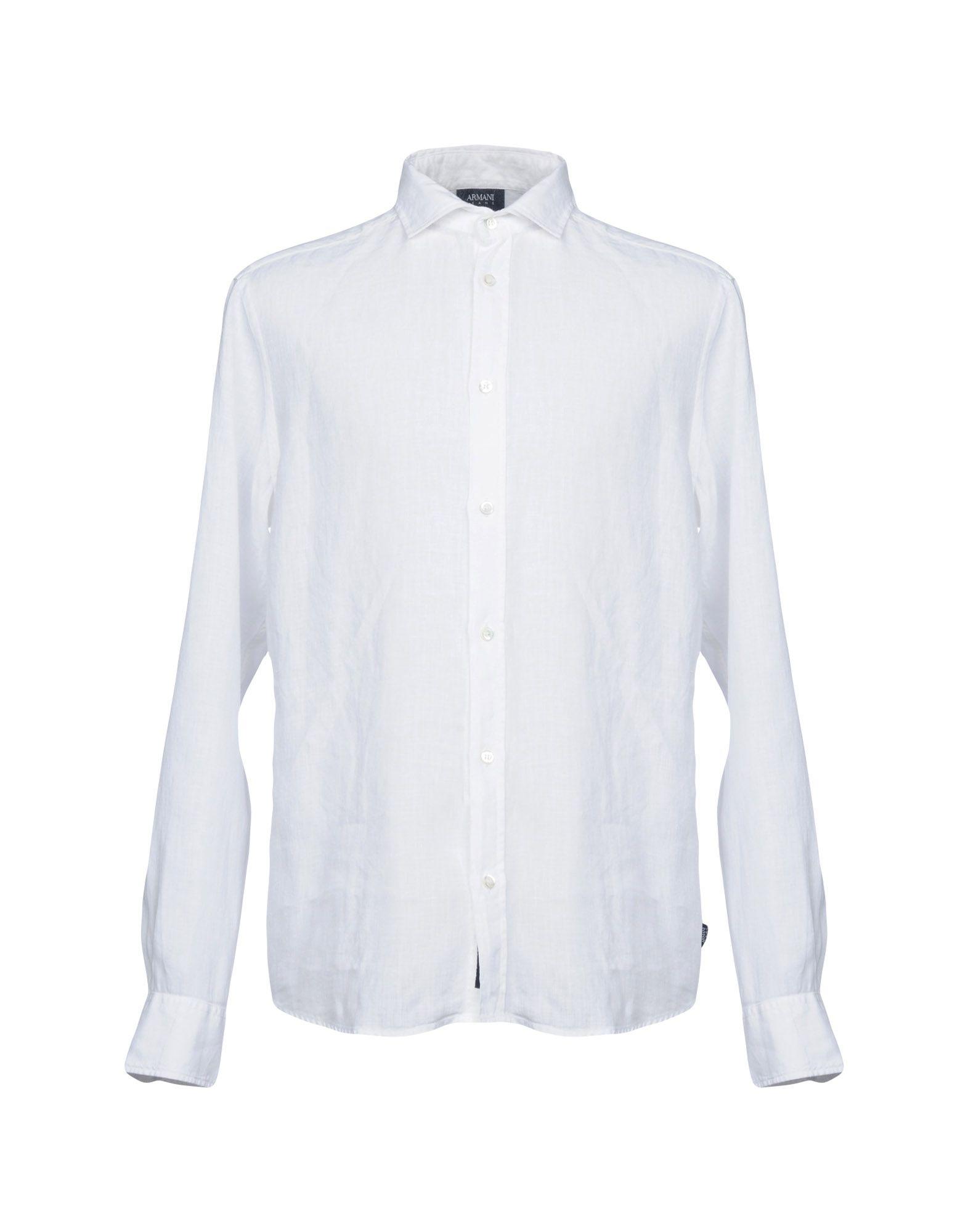 Camicia In Lino Armani Jeans Uomo - Acquista online su