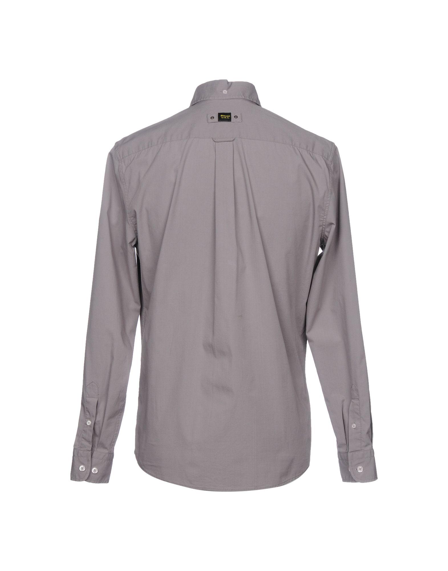 Camicia Tinta Unita Uomo Blauer Uomo Unita - 38718748XJ de27d3