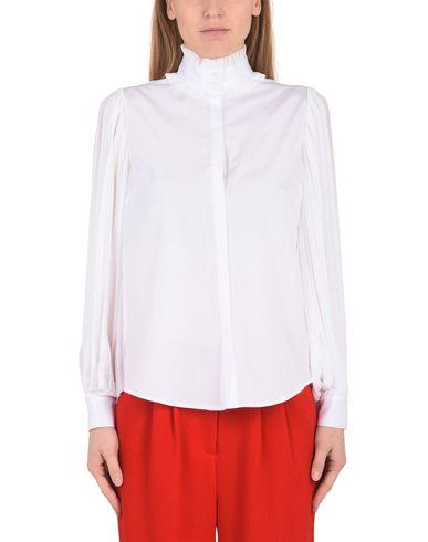 KARL LAGERFELD Poplin & Ggt Pleated Blouse Bluse