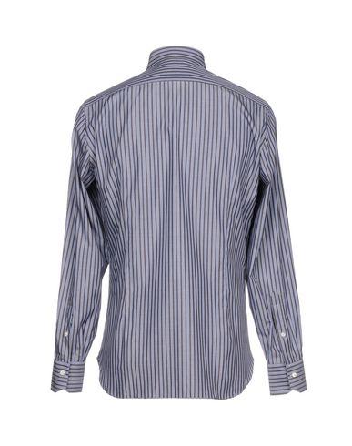 GIAMPAOLO Gestreiftes Hemd Billige Angebote ZK7coX