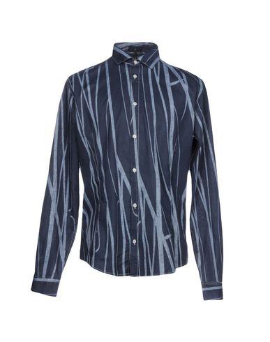 Armani Skjorte Trykt Denim rabatter kjøpe billig amazon salg falske klaring høy kvalitet billig salg klassiker c5ajtB