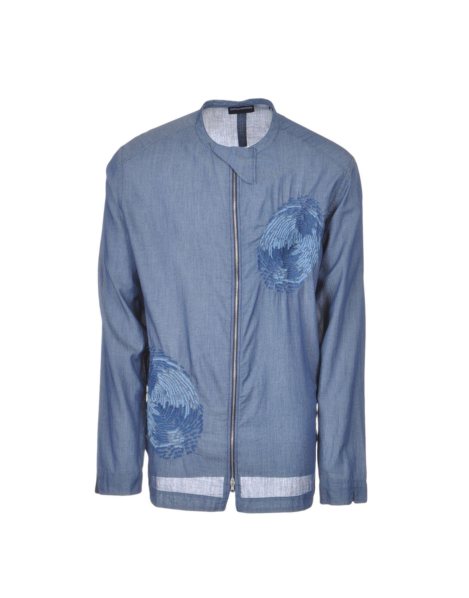 Camicia Tinta Unita Emporio Armani Uomo - Acquista online su