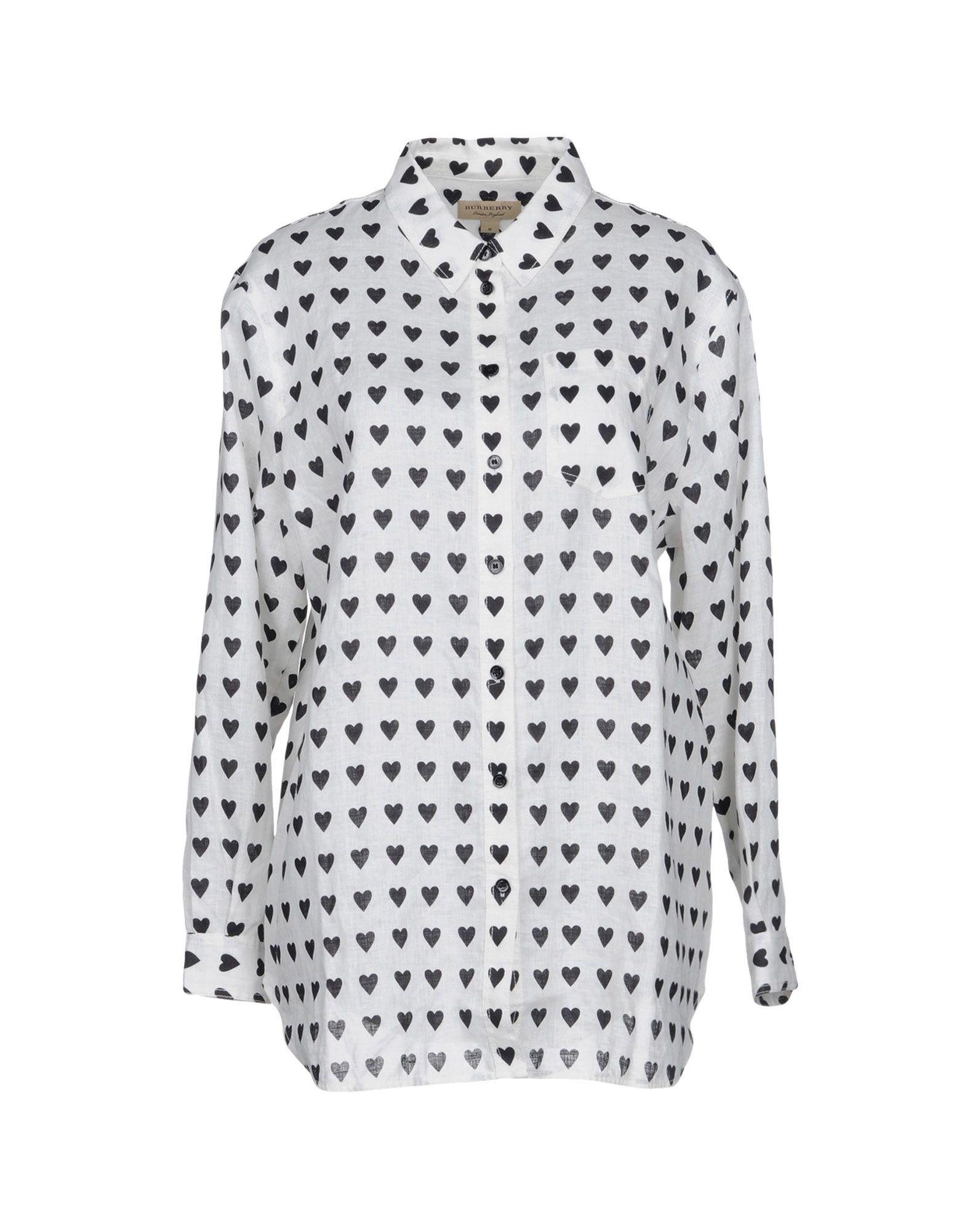 Camicia In Lino Burberry Donna - Acquista online su 87H8W06NMz