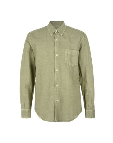Camisa De Lino Our Legacy Our Legacy 1950 S Shirt Olive Cotton Linen ... 8f546431f6808