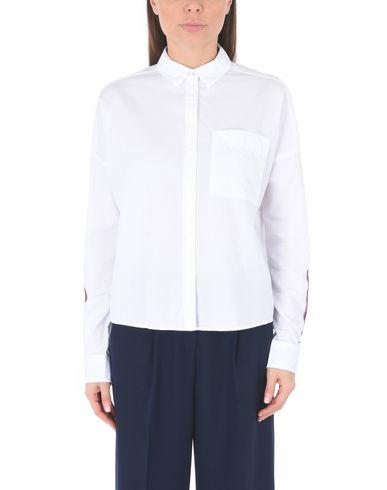 gratis frakt falske billig salg populær Tommy Jeans Tjw Dimensjonert Tape Detalj Skjorte Camisas Y Blusas Lisas EVXCgZv8