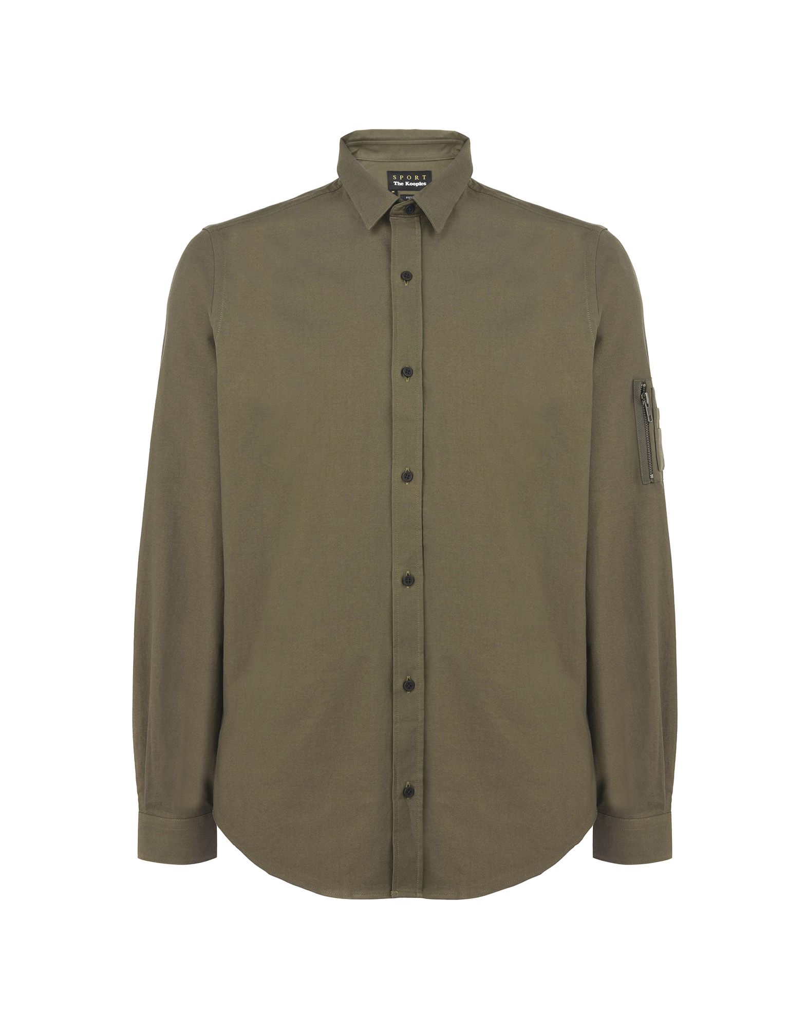 Camicia Tinta Unita The Kooples Sport Shirt With A Classic Collar And Chest Pockets - Uomo - Acquista online su