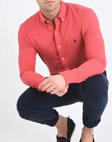 RALPH LAUREN Custom Fit Knitted Shirt Einfarbiges Hemd Neuesten Kollektionen Online Großer Verkauf Günstiger Preis Freies Verschiffen Große Auswahl An VAoAk0