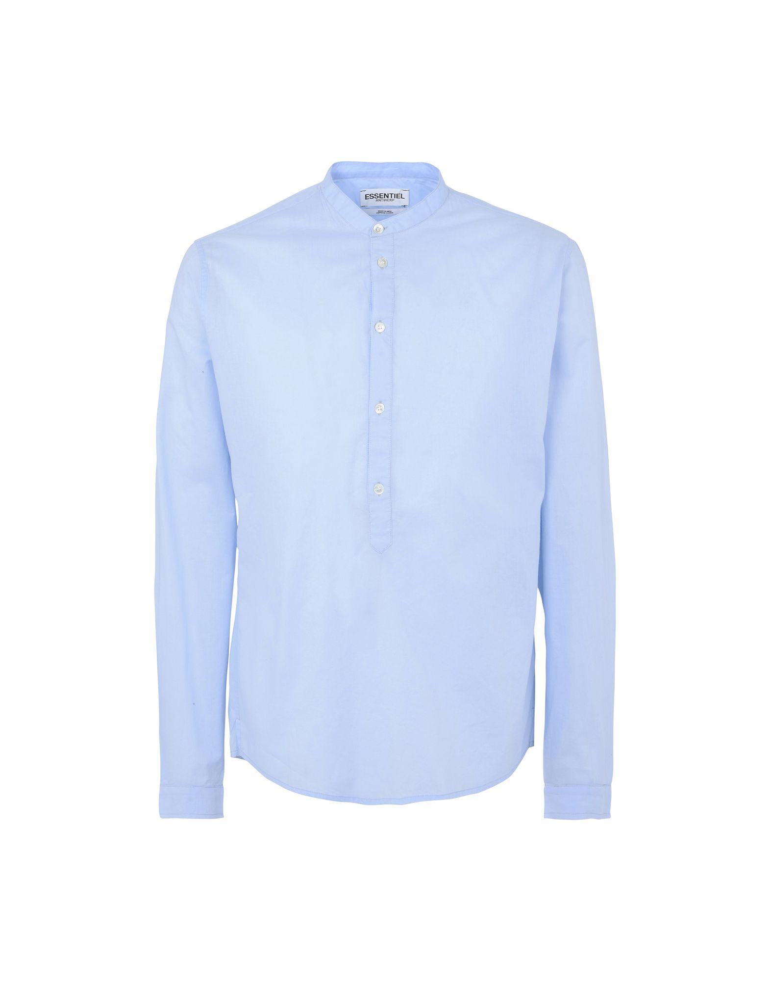 Camicia Tinta Unita Essentiel Antwerp M-Kaffir Polo Placket Shirt - Uomo - Acquista online su