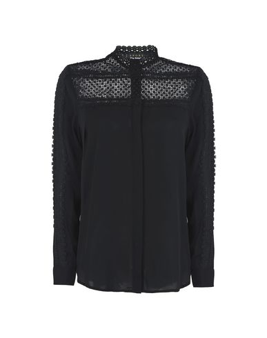 43a750ed87 The Kooples Sport Check Shirt With Lace Yoke - Lace Shirts & Blouses ...