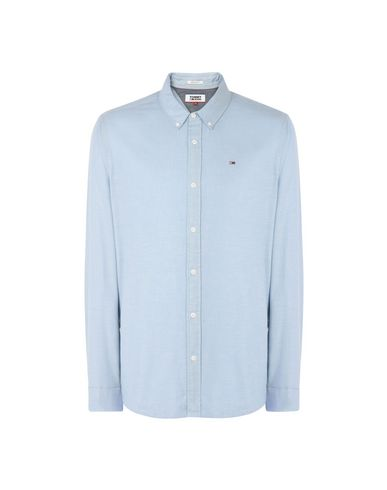 6bf885dab8d Tommy Jeans Tjm Basic Reg Chby Shirt L S 14 - Solid Colour Shirt ...