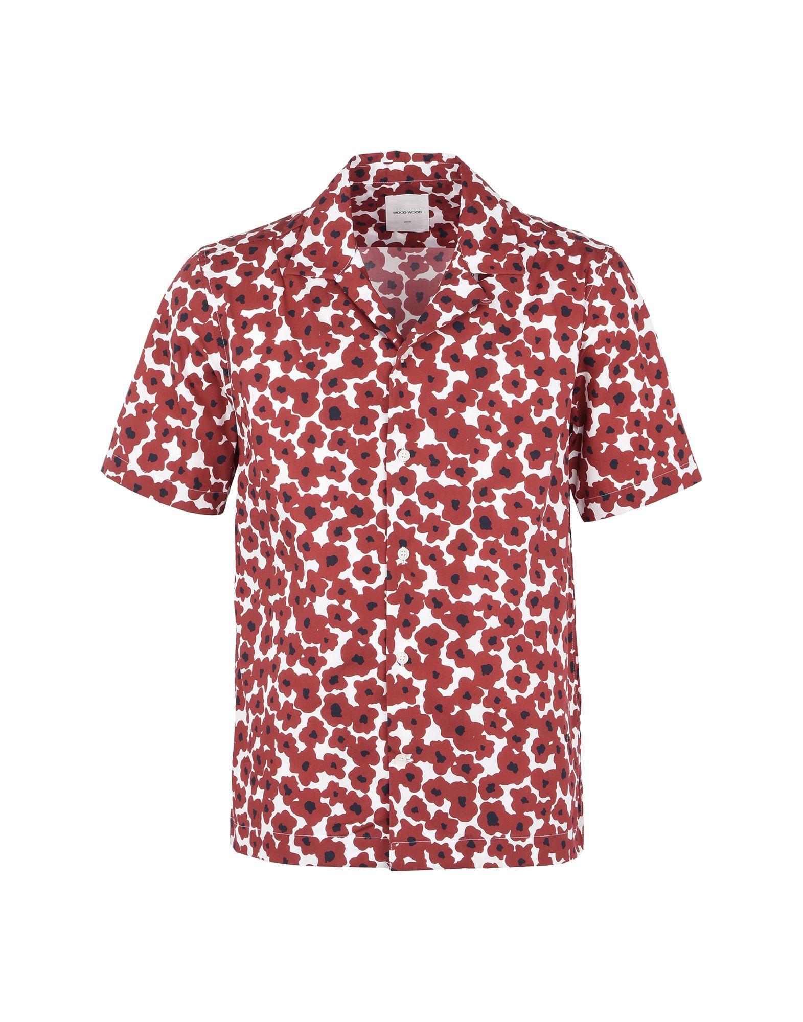 Camicia Fantasia Wood Wood Brandon Shirt Mens Woven Shirt - Uomo - Acquista online su