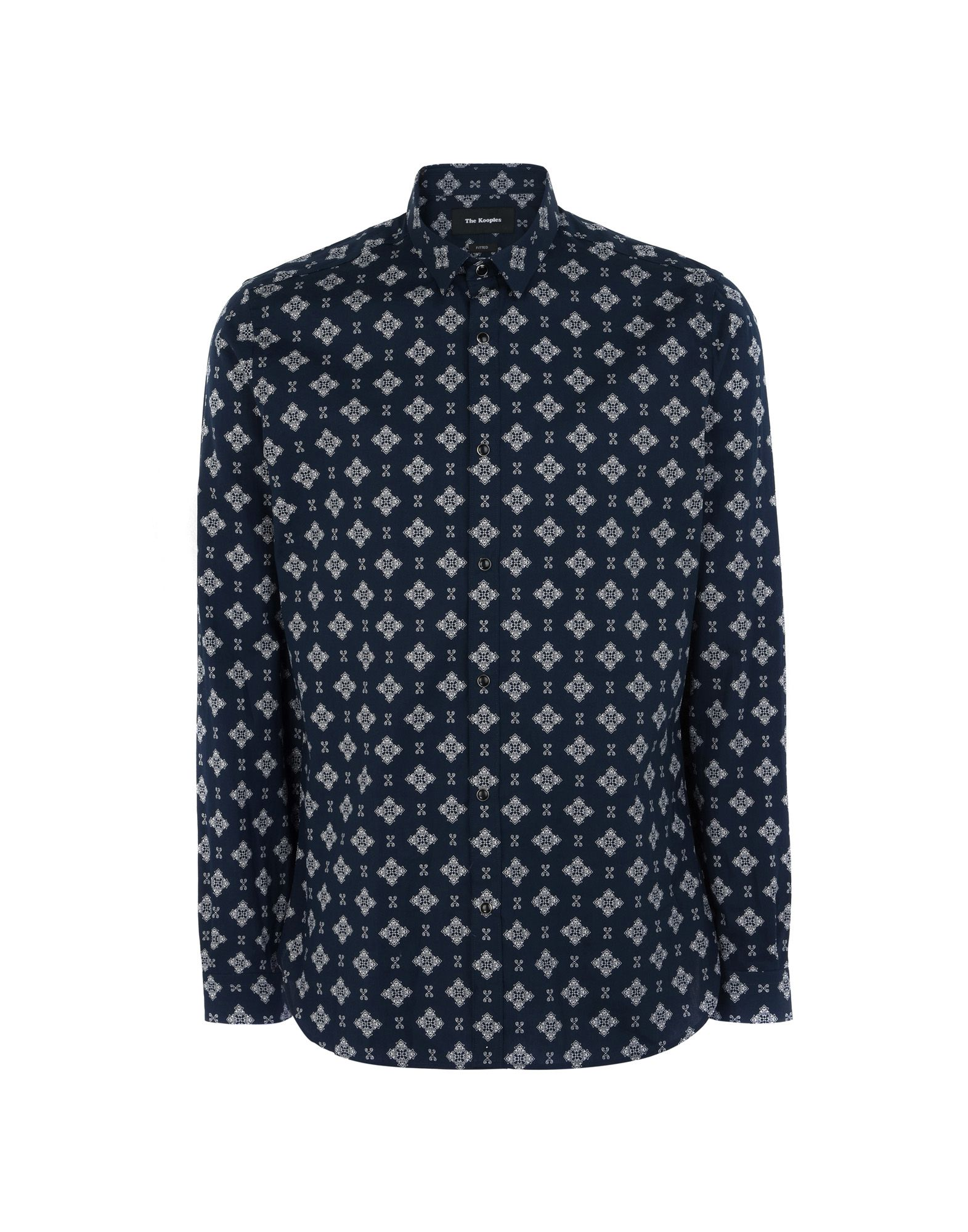 Camicia Fantasia The Kooples Printed Shirt With A Classic Collar - Donna - Acquista online su