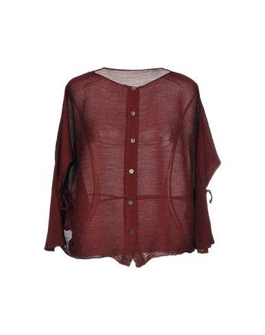 ISSEY MIYAKE CAULIFLOWER Shirts in Maroon