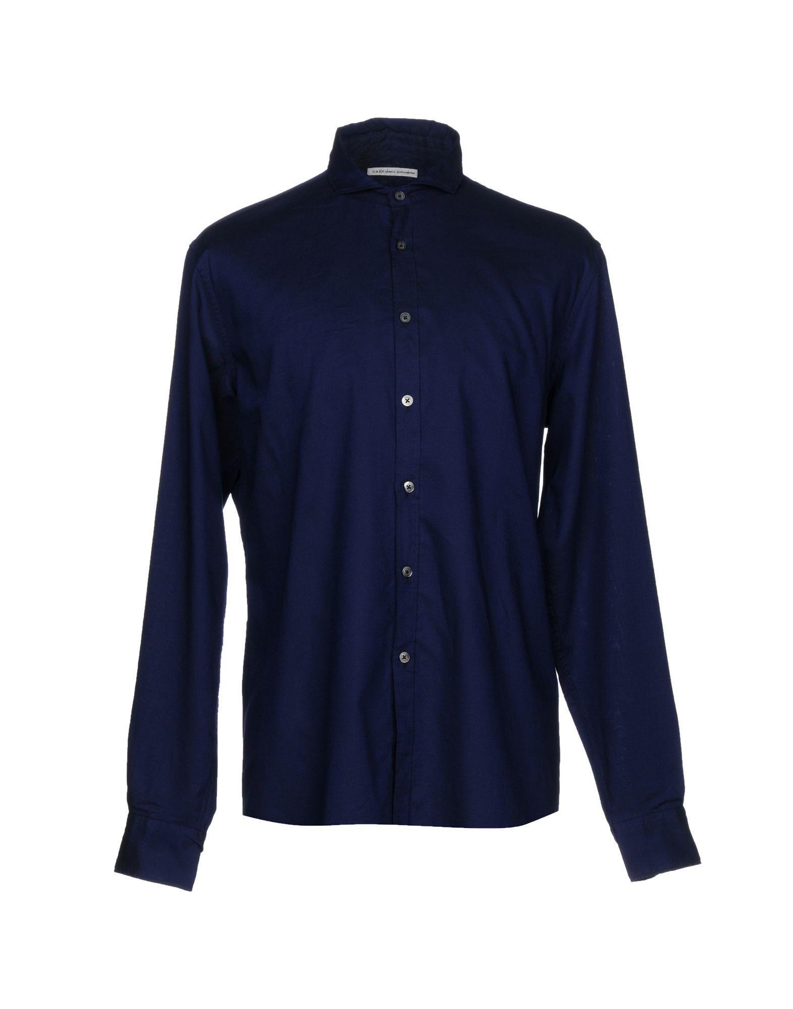 Camicia Tinta Unita grau Daniele Alessandrini herren - 38740637AQ
