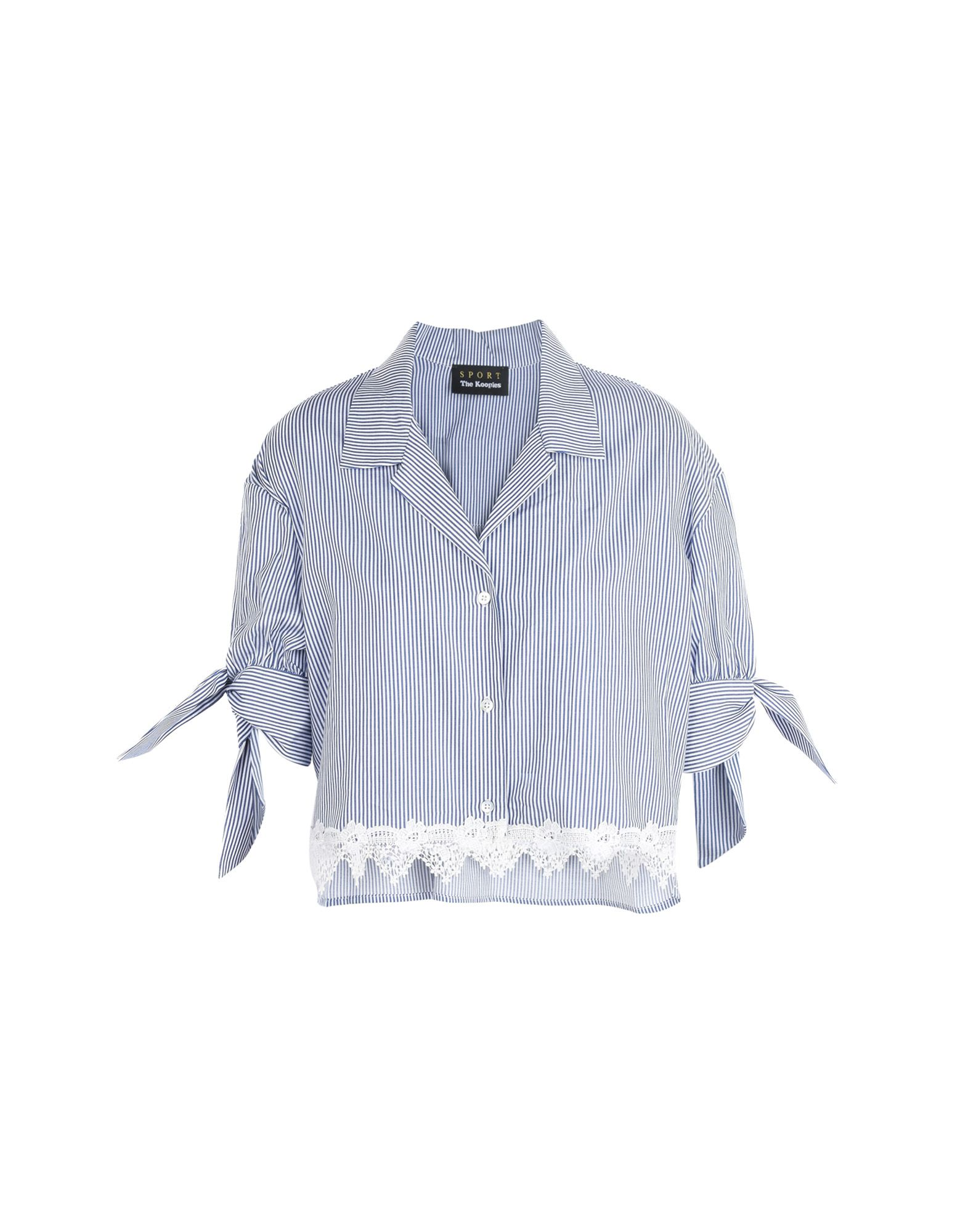 Camicia A Righe The Kooples Sport Shirt With Fine Stripes And Lace At The Hem - Donna - Acquista online su h1BxSuKN