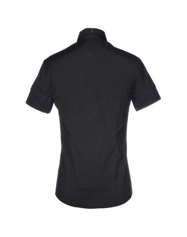 klaring med mastercard Versace Camisa Lisa falske billig pris kjøpesenter IImUDz05