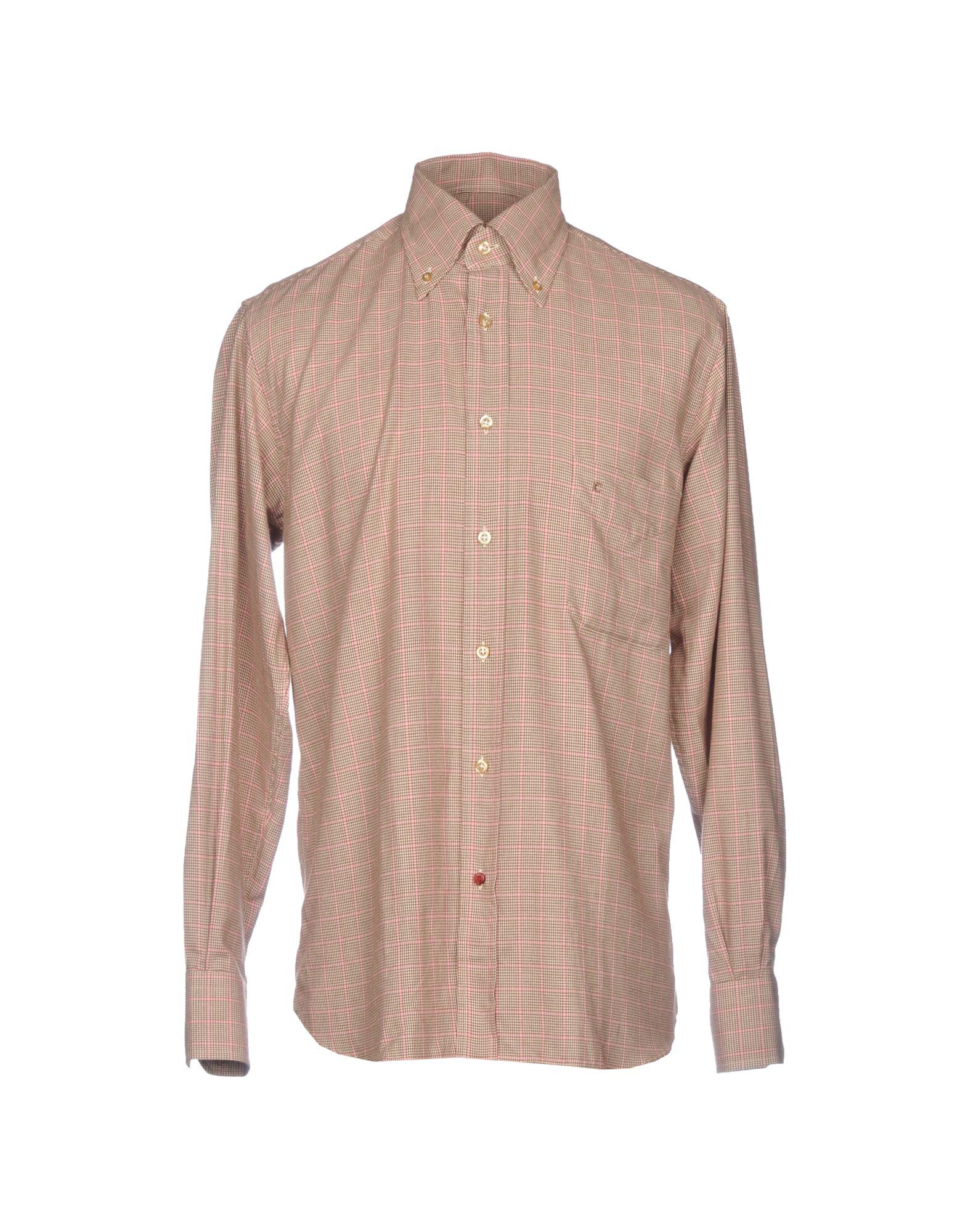 Camicia Fantasia Càrrel rosso rosso rosso Button uomo - 38762975AO e7a
