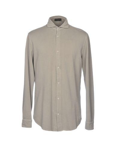 CAVALLERIA TOSCANA Solid Color Shirt in Light Grey