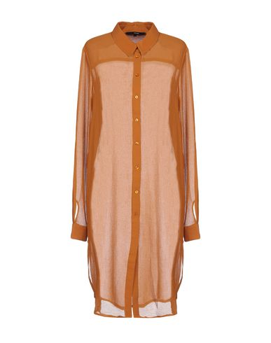 Solid Color Shirts & Blouses in Ocher