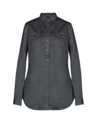 ROBERT FRIEDMAN Solid Color Shirts & Blouses in Steel Grey