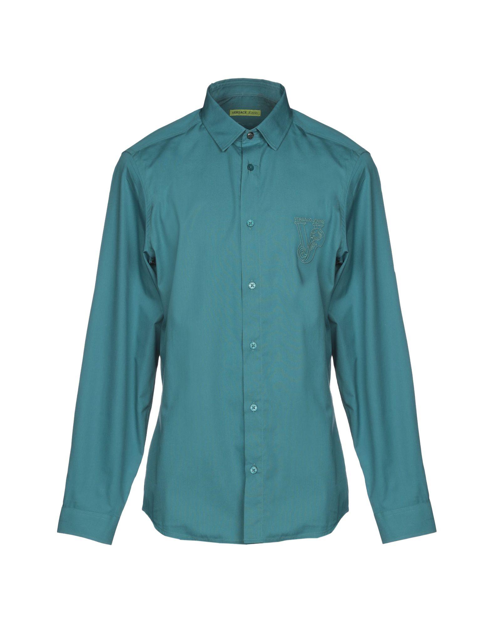e70bc07133c6 Versace Jeans Solid Colour Shirt - Men Versace Jeans Solid Colour Shirts  online on YOOX Finland - 38773978WC
