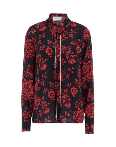 Floral Shirts & Blouses in Black