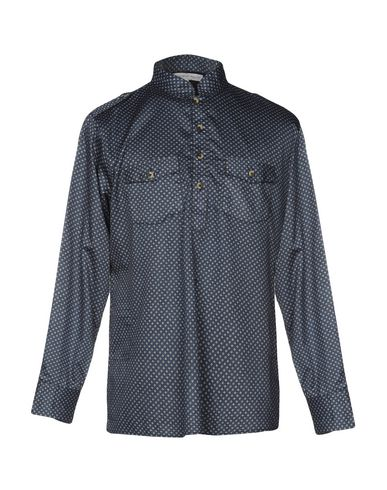 CHRISTOPHE SAUVAT COLLECTION Patterned Shirt in Slate Blue