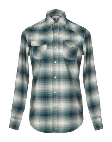 CHRISTOPHE SAUVAT COLLECTION Checked Shirt in Turquoise