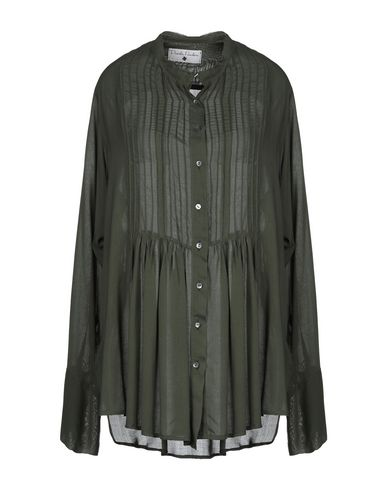 DANIELA PANCHERI Solid Color Shirts & Blouses in Military Green