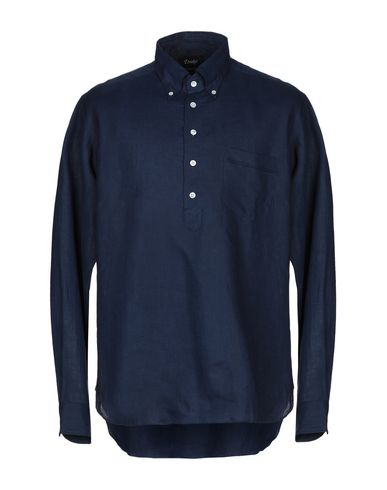 DRAKE'S Linen Shirt in Dark Blue