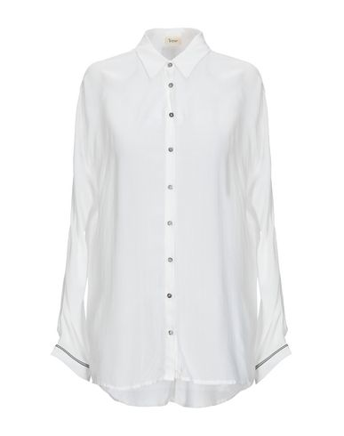 YERSE Solid Color Shirts & Blouses in White