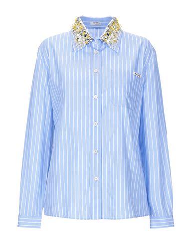 2051d3940047 Miu Miu Striped Shirt - Women Miu Miu Striped Shirts online on YOOX ...