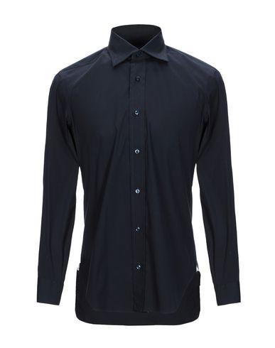BARBA NAPOLI Solid Color Shirt in Dark Blue