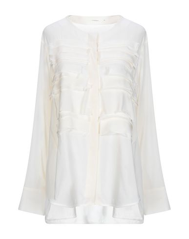LAREIDA Solid Color Shirts & Blouses in Beige