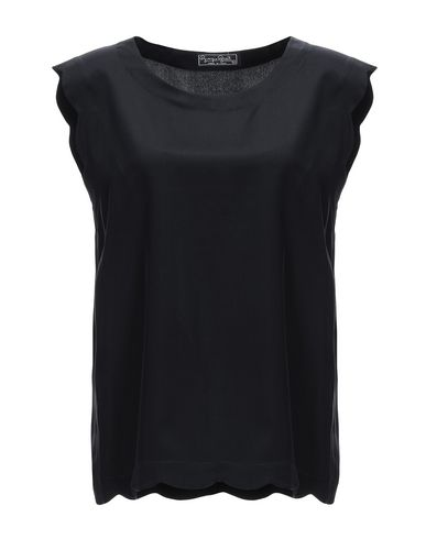 GIORGIO GRATI Silk Top in Black