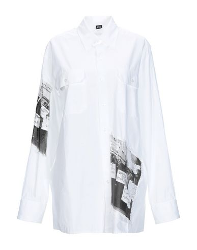 MPD BOX Solid Color Shirts & Blouses in White