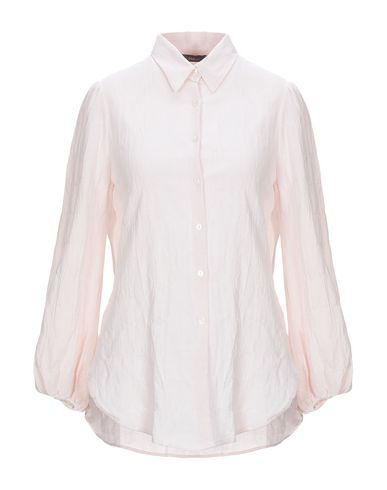 TRUE TRADITION Solid Color Shirts & Blouses in Light Pink