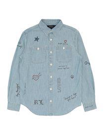 RALPH LAUREN - Μονόχρωμα πουκάμισα και μπλούζες b0ad2716835