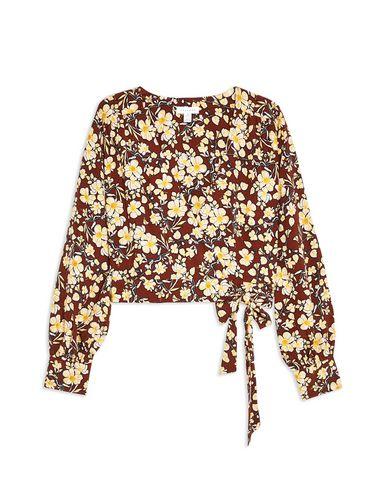 c7bdf54b46d5d6 Topshop Floral Wrap Crop Blouse - Blouse - Women Topshop Blouses ...